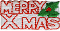 1 3/4'' by 3/4'' Merry Xmas Applique1 3/4'' by 3/4'' Merry Xmas Applique