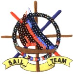 3 1/2'' by 3 1/2'' Sequined Sail Team Applique3 1/2'' by 3 1/2'' Sequined Sail Team Applique
