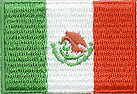 1 1/4'' by 2'' Iron On Flag Applique-Mexico1 1/4'' by 2'' Iron On Flag Applique-Mexico