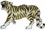 4'' by 2 5/8'' Iron On Tiger Applique4'' by 2 5/8'' Iron On Tiger Applique