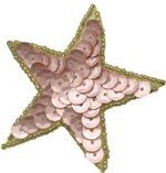 2 1/2'' - 6.4cm Beaded & Sequined Star with Gold Edge Applique - 3 Colors2 1/2'' - 6.4cm Beaded & Sequined Star with Gold Edge Applique - 3 Colors