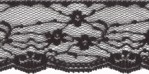 1 1/2'' Black Lace Trim1 1/2'' Black Lace Trim