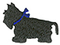 1'' by 3/4'' Black Scottish Terrier Applique1'' by 3/4'' Black Scottish Terrier Applique