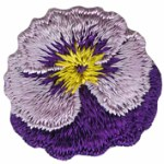 1'' - 26'' mm - Purple Pansy Applique1'' - 26'' mm - Purple Pansy Applique