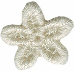 3/4'' Venice Flower Applique - Natural3/4'' Venice Flower Applique - Natural