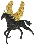 5/8'' by 3/4'' Pegasus Iron On Applique5/8'' by 3/4'' Pegasus Iron On Applique