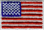 1'' by 1 1/2'' Iron On American Flag Applique1'' by 1 1/2'' Iron On American Flag Applique
