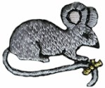 15/16'' by 3/4'' Iron On Mouse Applique15/16'' by 3/4'' Iron On Mouse Applique