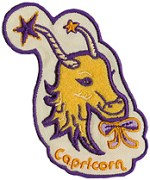 2'' by 3'' Iron On Capricorn Applique2'' by 3'' Iron On Capricorn Applique