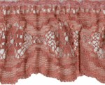 2 3/8'' Mauve Gathered Lace Trim2 3/8'' Mauve Gathered Lace Trim