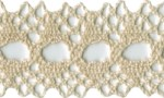 1 1/4'' Cotton Beading Lace Trim - Natural1 1/4'' Cotton Beading Lace Trim - Natural