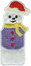 1'' by 2 1/2'' Iron On Snowman Applique1'' by 2 1/2'' Iron On Snowman Applique