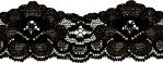 1 5/8'' to 1 1/4'' Black Scalloped Lace Trim1 5/8'' to 1 1/4'' Black Scalloped Lace Trim