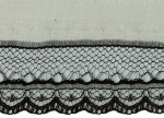1'' Black Lace with 5/8'' Ivory Selvage1'' Black Lace with 5/8'' Ivory Selvage