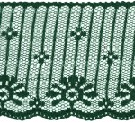 2 1/2'' Hunter Green Lace Trim2 1/2'' Hunter Green Lace Trim