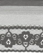1/2'' Black Lace Trim with 1 3/4'' Selvage1/2'' Black Lace Trim with 1 3/4'' Selvage