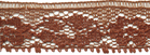 5/8'' Cocoa Brown Lace Trim5/8'' Cocoa Brown Lace Trim