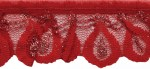 1 1/2'' Red/Silver Gathered Lace1 1/2'' Red/Silver Gathered Lace