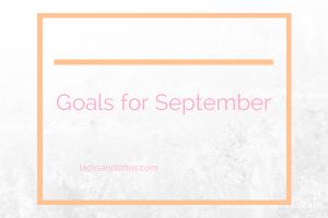 Goal Setting for September
