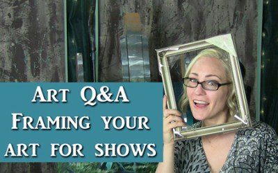 Art Q&A framing your work for shows
