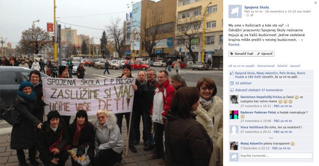 Štrajk pracovníkov Spojenej školy v Košiciach