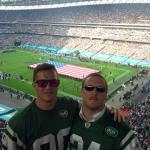 Myself and Rutgers Alumni & LTP student Kevin Albert attending the NY Jets NFL game at Wembley in October