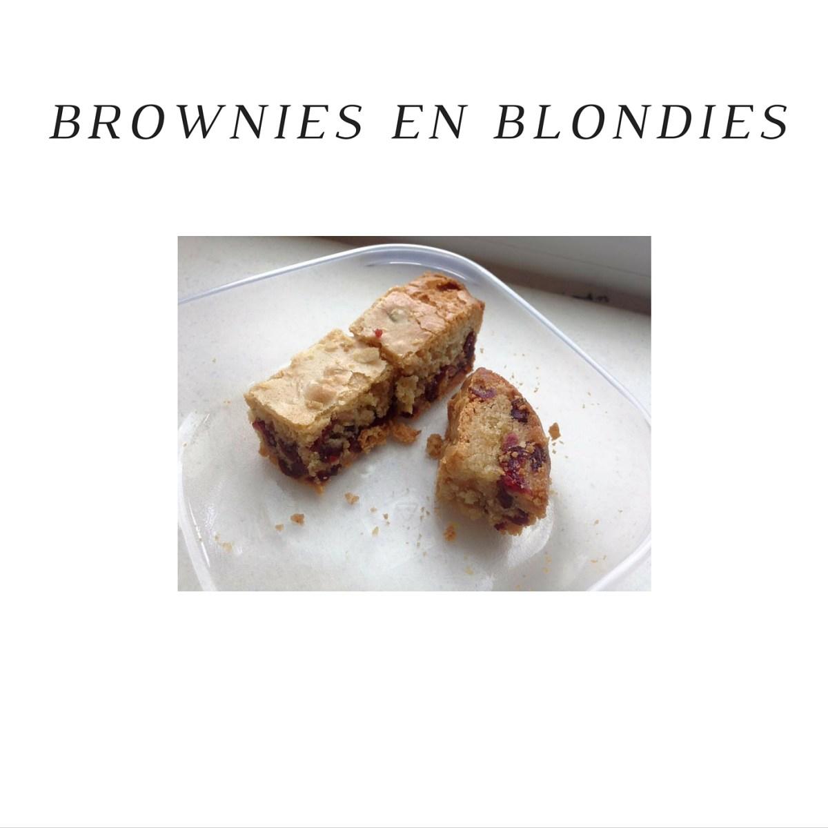Brownies en Blondies