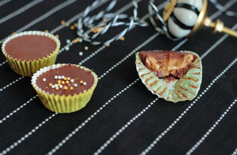 Bouchées au chocolat et pâte de spéculoos