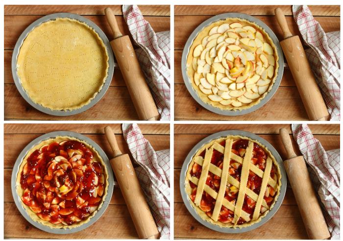 Crostata confiture pommes