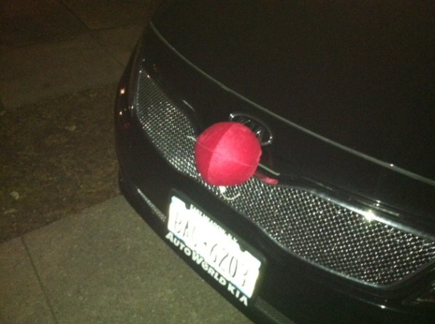 So, I guess you want to be specific and let us know that your car is actually not any reindeer....it's Rudolph.