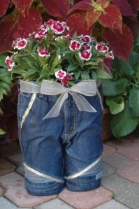 "God I hope my kids don't plant flowers in a pair of ""jorts."""