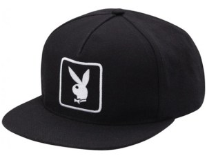 supreme-playboy-snapback-hat-cap-black