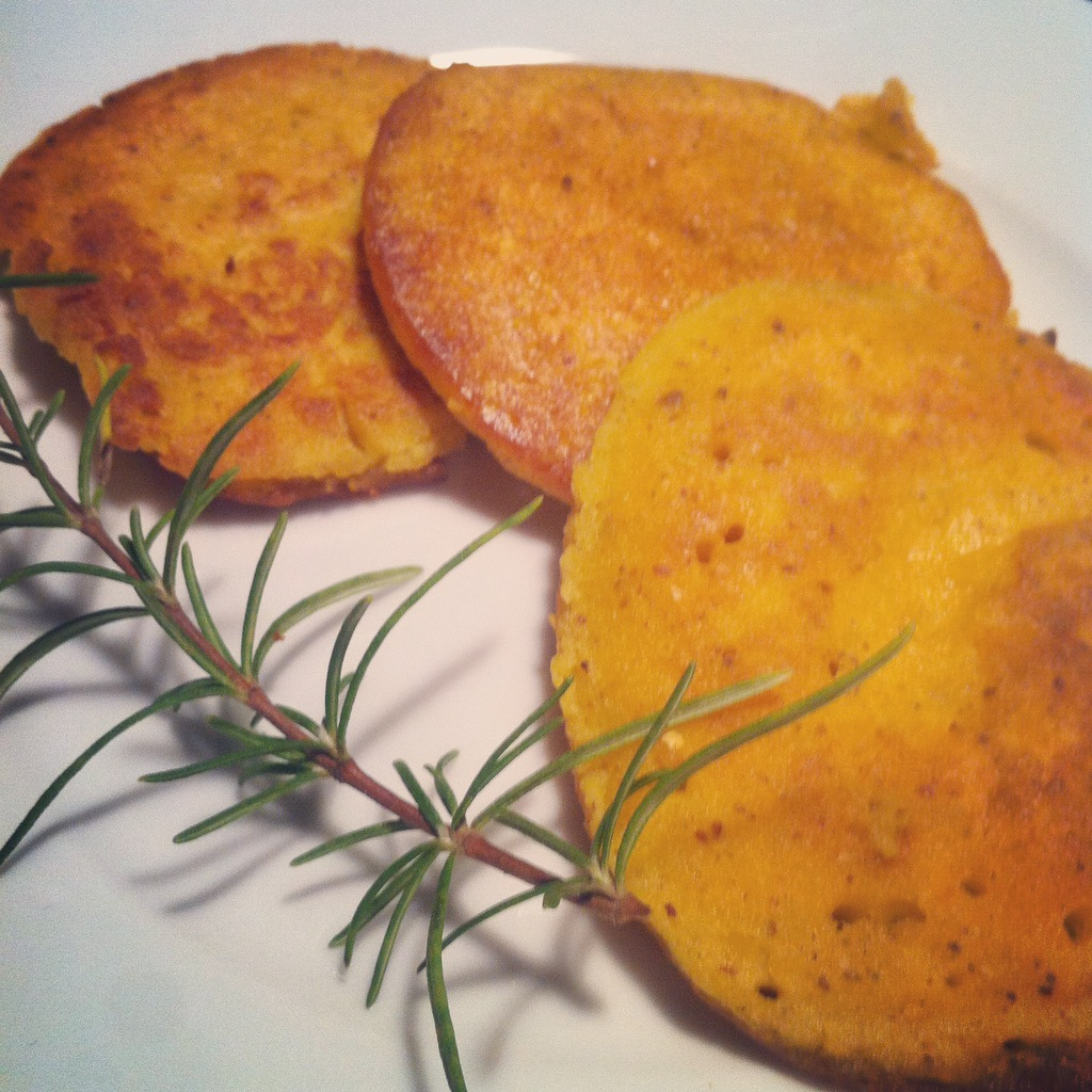 Tortitas de calabaza sin gluten / sin lactosa