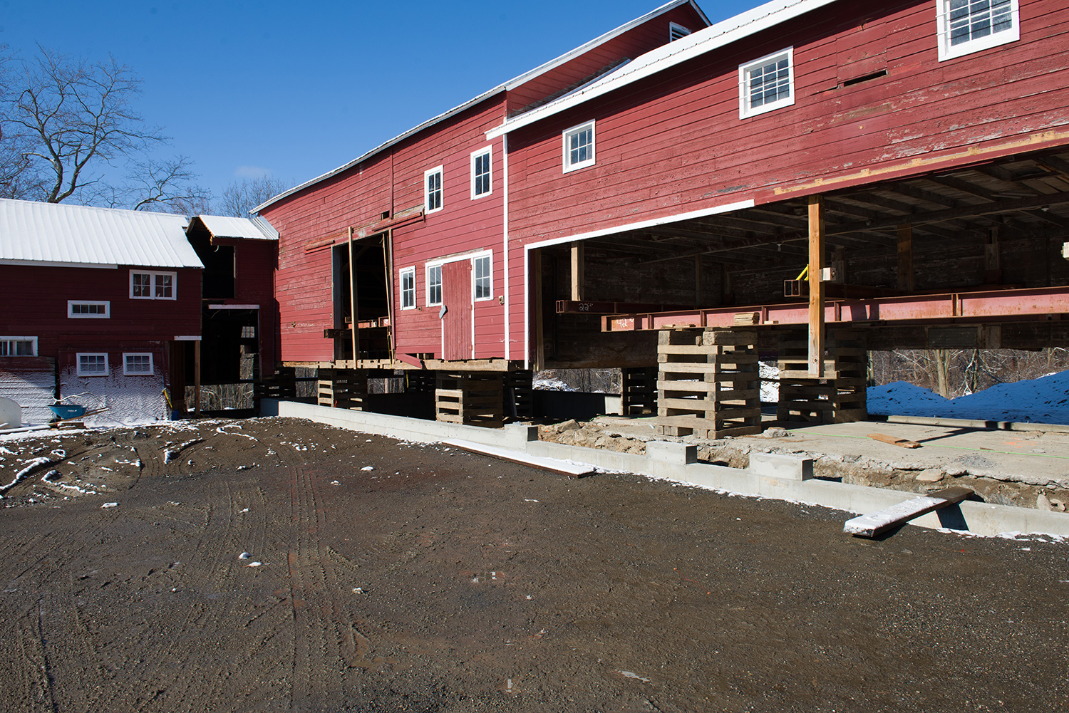Foundation poured under Spencertown barn. Spencertown, NY.