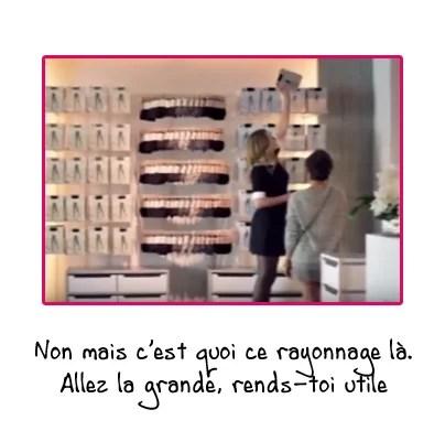 Calzedonia avis, pub avec Julia Roberts (vidéo en boutique de collants)