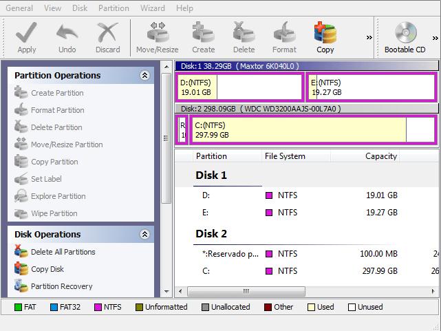 Redimensionar partición en Windows 7 64 BITS