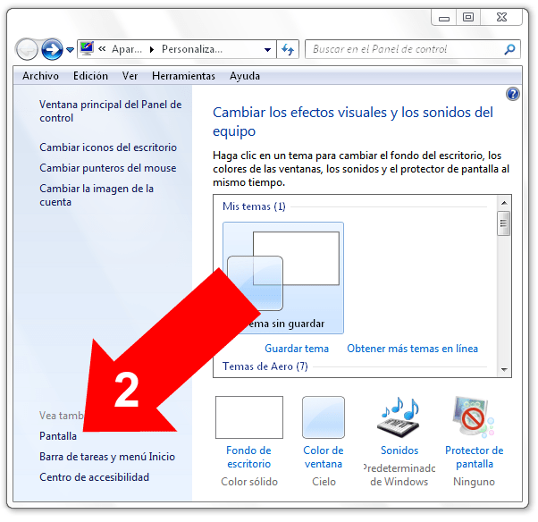 Agrandar pantalla en Windows 7