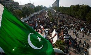 supporters of the cleric Tahir-ul-Qadri occupy the main avenue of Pakistan's capital, Islamabad.