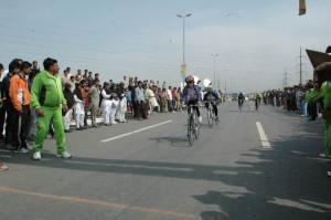 Raheela Banu approached the finish line with Maliaka