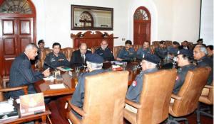 New IG Punjab taking meeting at CPO