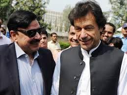Sheikh Rasheed Ahmad with Imran Khan