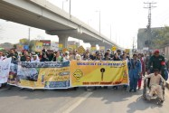 Rescue 1122 organizes awareness walk for the victims of Road Traffic Crashes