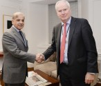 Shahbaz Sharif meets with National Security Advisor of UK Sir Mark Lyall-Grant in London