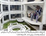 Secretary Specialized Healthcare visits under- construction building of Fatima Jinnah Institute of Dental Sciences Jubilee Town