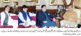 PML-N parliamentarians call on Shahbaz Sharif