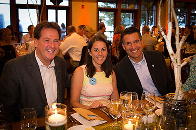 Nevada Governor Sandoval and Lt. Gov Krolicki with Tahoe Fund CEO Amy Berry at the Tahoe Fund 2013 Founders Circle Summer Dinner