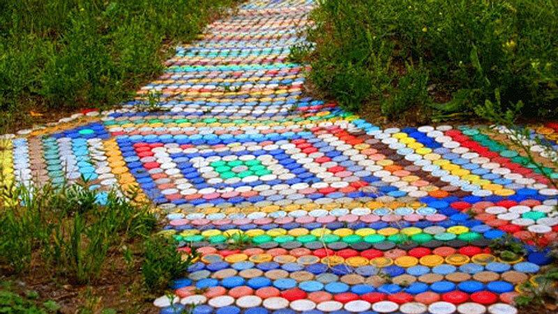 Садовые дорожки своими руками из пластиковых бутылок