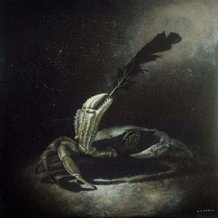 """Mark Gleason - Wave Oil on canvas, 16x16"""" framed, $1,000"""