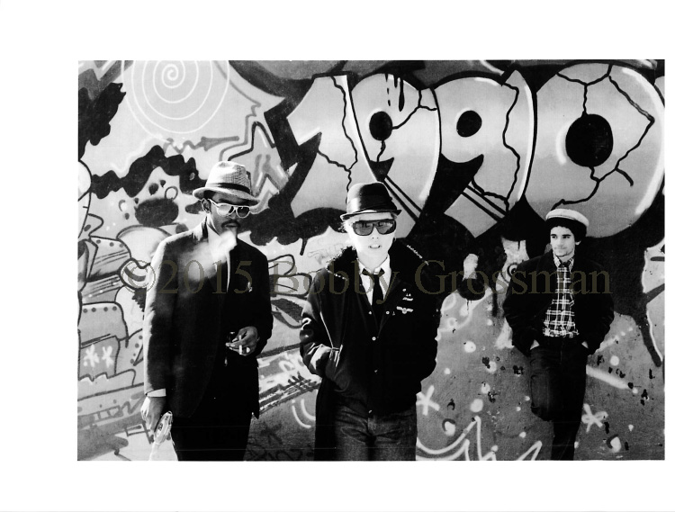"Bobby Grossman - Fab 5 Freddy, Debbie Harry & Lee Quinones, Handball Court at Pike & Cherry (1990) silver gelatin photograph, 20x16"" $3000"