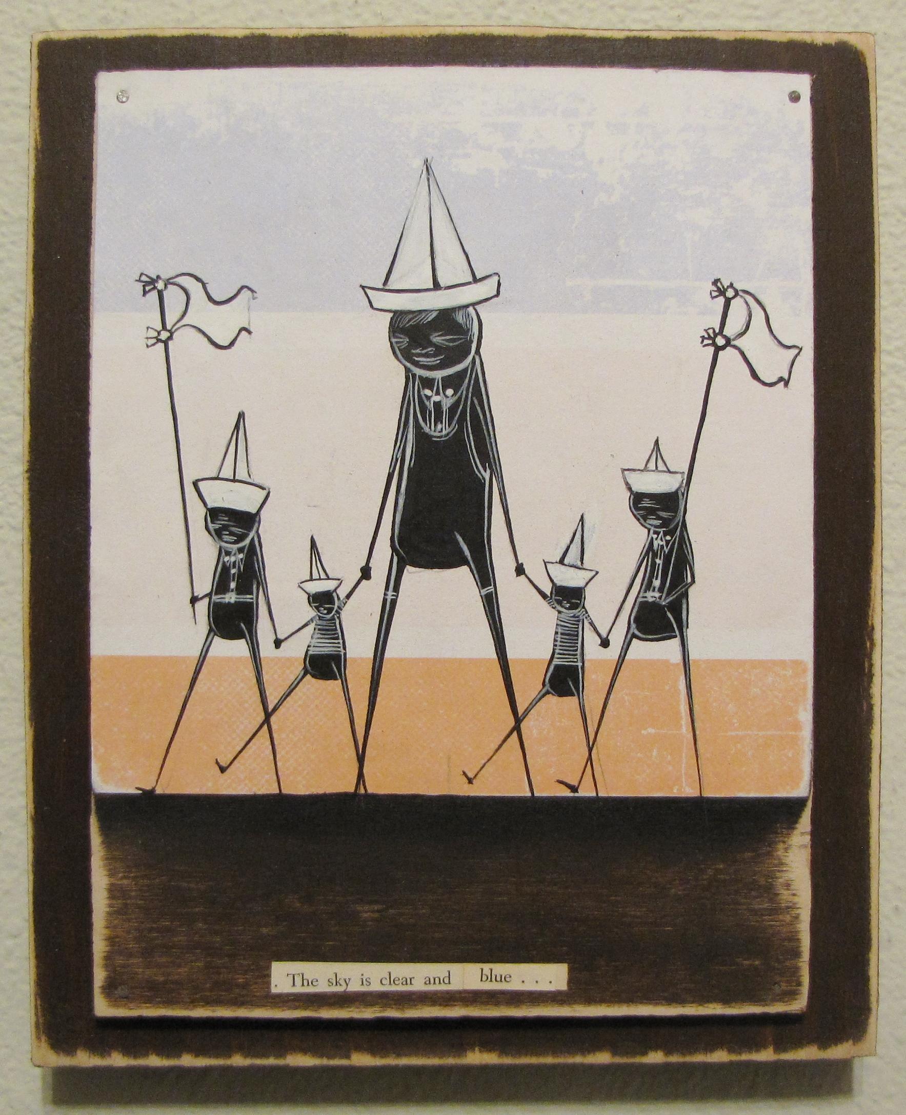 "Walt Hall - On the Baltic SeaMixed media on wood, 7x9"", $200"